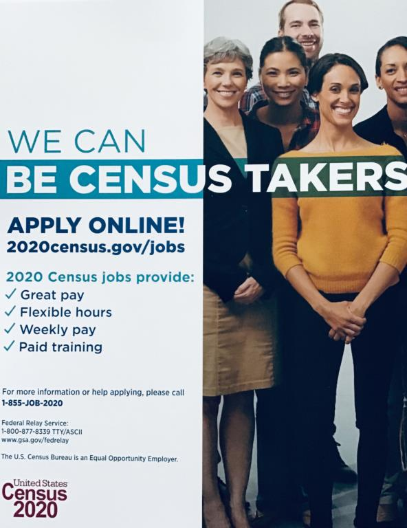 The U.S. Census Bureau is currently seeking applicants to staff the 2020 Census Operations
